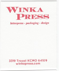 Crane's Lettra Fluorescent White 110# Cover with Red ink