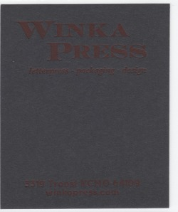 Mr.French Speckletone Black 140# Cover with Red ink