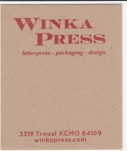Mr.French Speckletone Kraft 140# Cover with Red ink