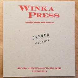 Red ink Kraft cardstock
