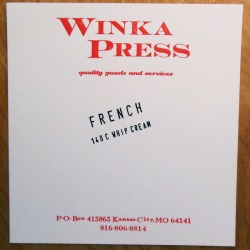 Red ink Whipcream cardstock
