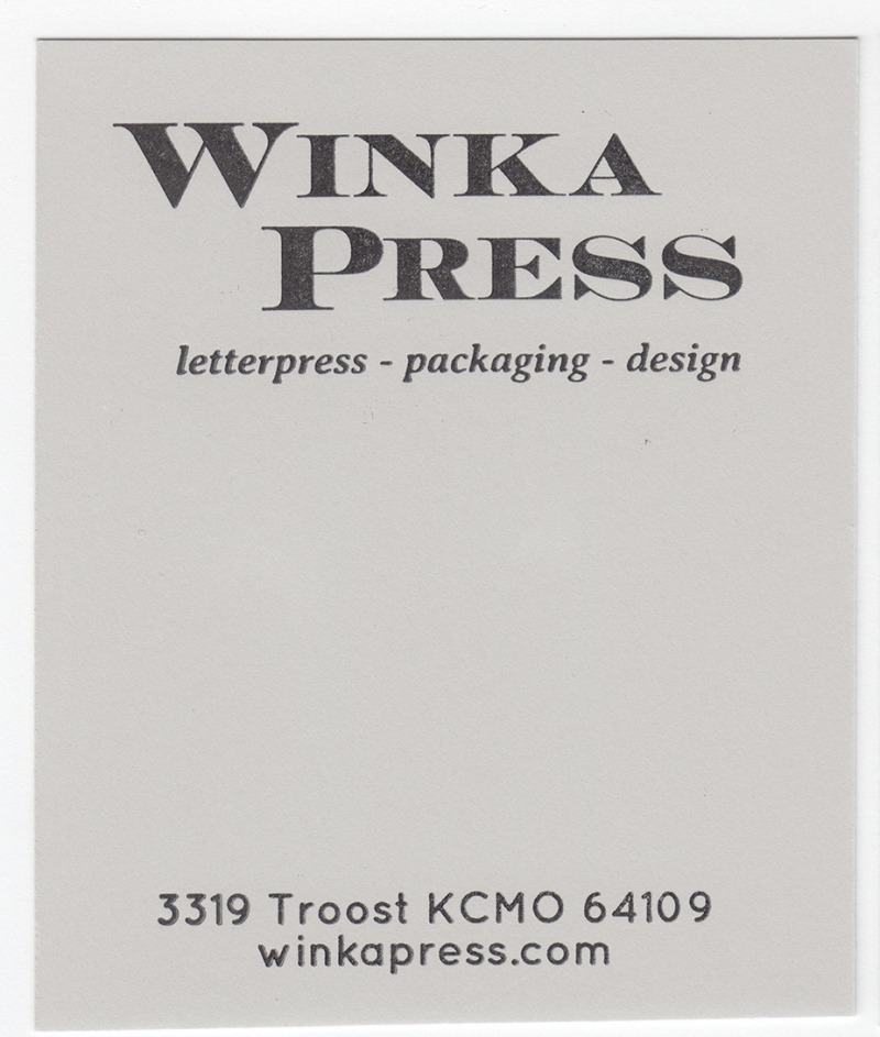 Crane's Crest Moonstone Grey 90# Cover with Black ink