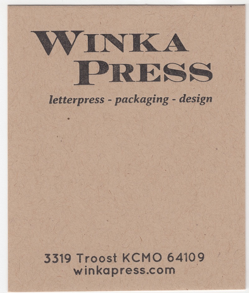 Mr.French Speckletone Kraft 140# Cover with Black ink